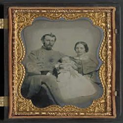 Unidentified Confederate soldier and his family