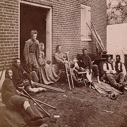 Wounded soldiers after the Batlle of the Wilderness