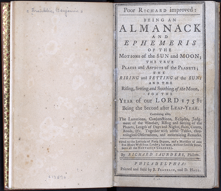 a literary analysis of poor richard by benjamin franklin Poor richard's almanack benjamin franklin  under the pen name of richard saunders, a poor man just trying to take care of his  analysis of poor richard's almanack.