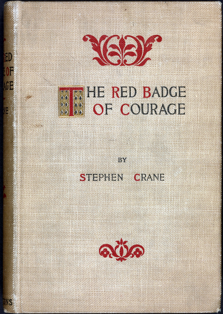 a literary analysis of the red badge of courage Themes, symbols, and motifs in the red badge of courage the colors example the flag crane repeatedly refers to the colors red, blue, gray, yellow, and.