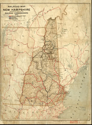 Railroad map of New Hampshire, 1894.