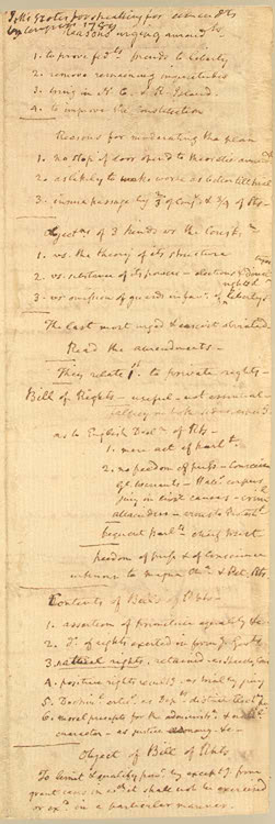 James Madison Bill of Congress