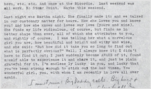 Correspondence from Leonard Bernstein to his wife, Felicia