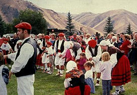 Oinkari Basque Dancers perform at an Idaho festival