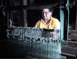 Traditional weaver Leota Davy