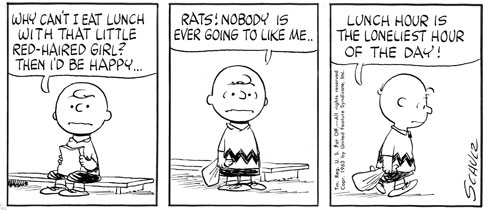 "Detail from ""Peanuts,"" Charles Schulz, Jan. 20, 1963, courtesy of ..."