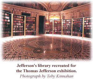 Jefferson's Library recreated for the Thomas Jefferson Exhibition - Photo by Toby Kinnahan
