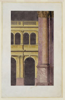 "Smithmeyer & Pelz, architect. ""Congressional Library Building."" Interior, marble arches and columns"