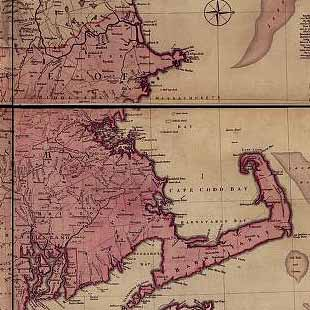 A map of the most inhabited part of New England... Thomas Jefferys, [London] Thos. Jefferys, 1755.