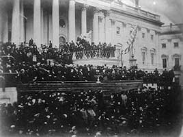 The inauguration of Abraham Lincoln, 1865