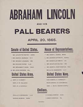 Abraham Lincoln and his pall bearers, April 20, 1865