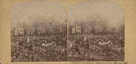 President Lincoln's second inauguration, March 1865