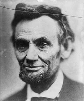 "Abraham Lincoln, head-and-shoulders portrait, called ""last photograph of Lincoln from life"""