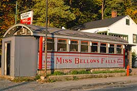 Miss Bellows Falls Diner, side view