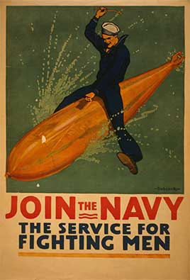 Join the Navy, the service for fighting men / Babcock.