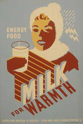 Milk - for warmth Energy food.