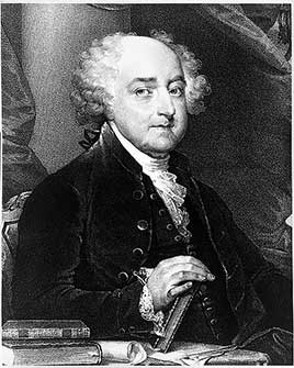 John Adams, second President of the United States (1797-1801)