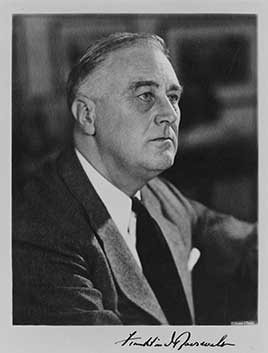 Franklin D. Roosevelt, 32nd President of the United States (1933-1945)