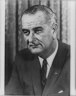 Lyndon B. Johnson, 36th president of the United States (1963-1969)