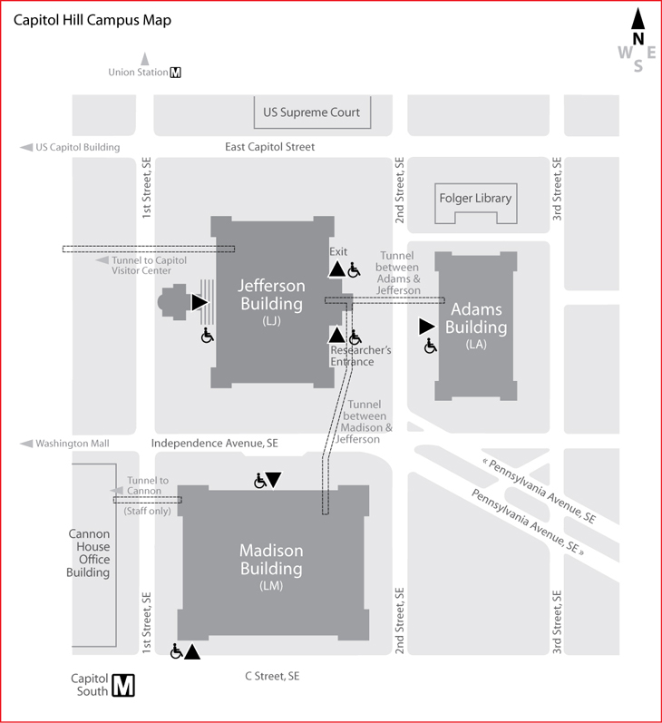 Campus Map Library Of Congress