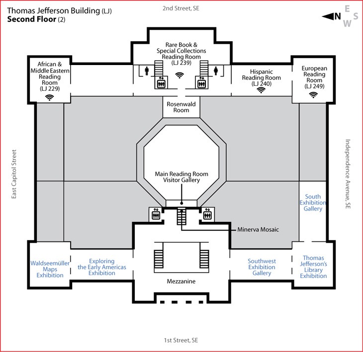 Jefferson building second floor library of congress for 2 floor building plan