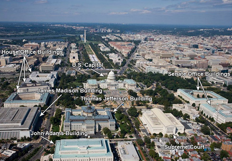 Bird's Eye View of Capitol Hill